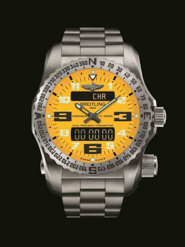 Breitling Emergency II Cobra Yellow Dial_Front