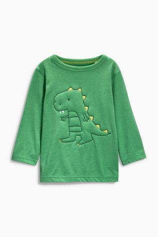 Buy Wadded Dino Long Sleeve T-Shirt (3mths-6yrs) online today at Next: United States of America