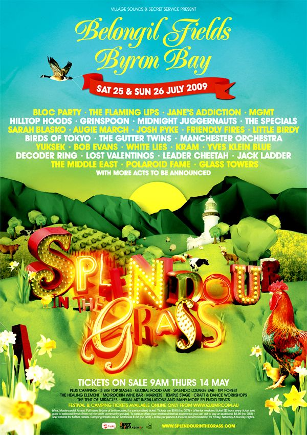 Splendour in the Grass poster by MaricorMaricar  - Come in, Come in be splendid!  www.byronbaycampinghire.com.au