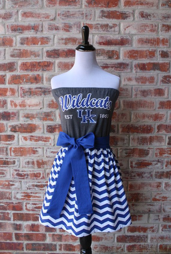 University of Kentucky Wildcats Game Day Strapless by Jill Be Nimble on Etsy.  Great Kentucky gameday dress or Kentucky gameday outfit.  Perfect tailgating outfit too!