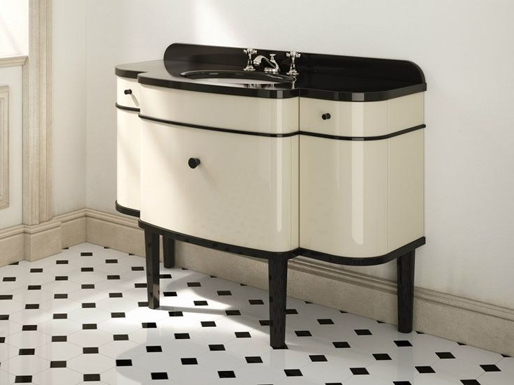 Móvel lavatório lacado único estilo art déco MUSIC by Devon&Devon   design Paola Ciarmatori Tanini