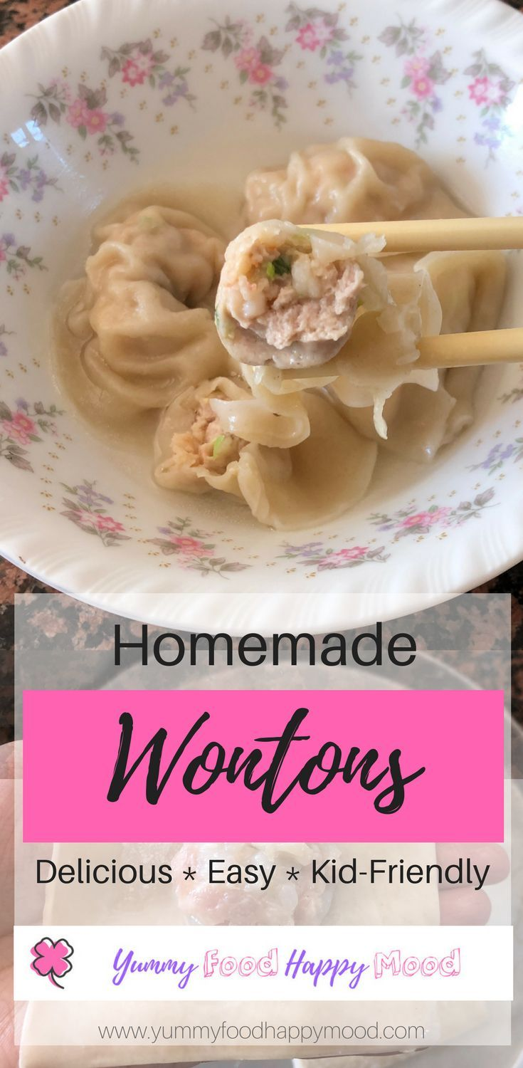 Delicious homemade wontons. Great as an appetizer or a filling meal. It's kid-friendly and this recipe does not contain added sugar and salt. Easy to make! Head over to my blog for more details. #easy #healthyeating #kidfriendly #lunch #dinner #appetizer #wonton #chinese #protein #gluten
