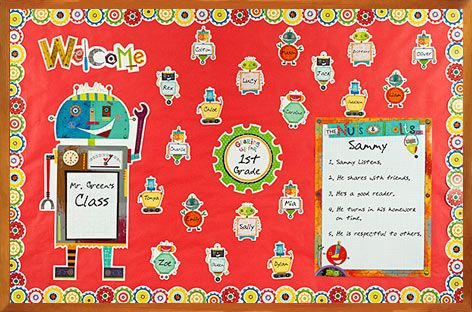 Riveting #Robots #Classroom Bulletin Board idea with CTP's Riveting Robots Bulletin Board Set