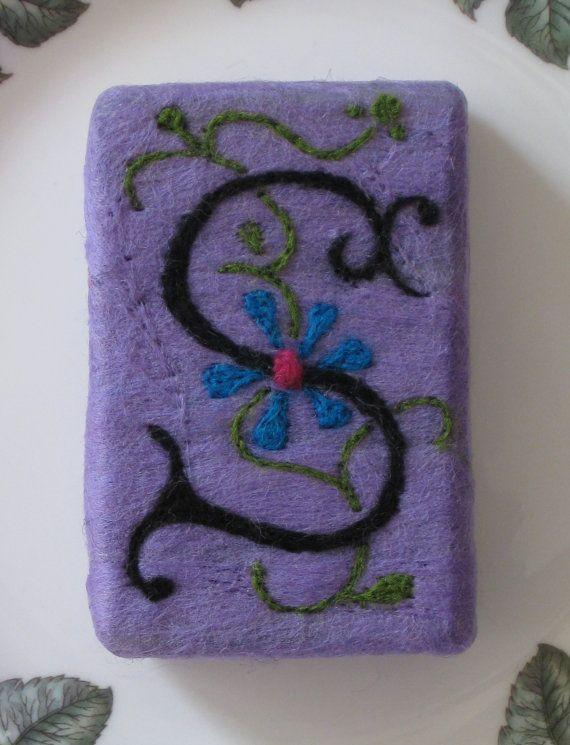 Monogrammed Soap Needle Felted Soap by RaisingTheBarSoap ...