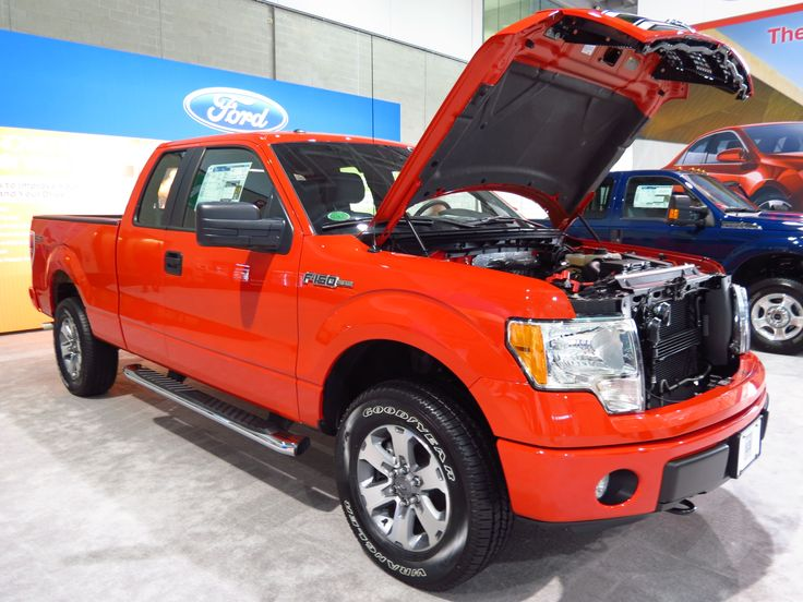 open hood on 2014 f150 ford truck