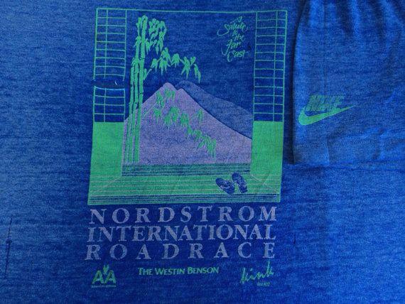 NIKE Blue Tag Race Tshirt Vintage/ 80s RARE by sweetVTGtshirt, $175.00