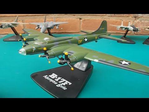 B-17f Memphis Belle historic ww2 plane diecast model by atlas editions - YouTube