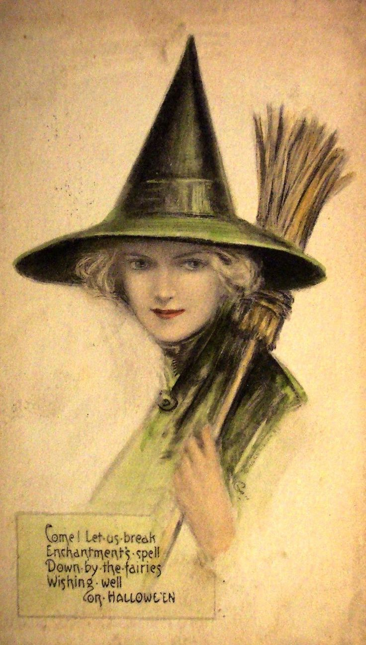 Vintage Witch Postcard...