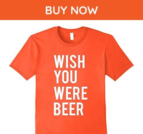 Mens Dicky Ticker Pink Wish You Were Beer T-shirt Here 3XL Orange - Food and drink shirts (*Amazon Partner-Link)