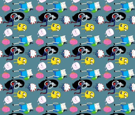 Adventure Time fabric by tellebass on Spoonflower - custom fabric