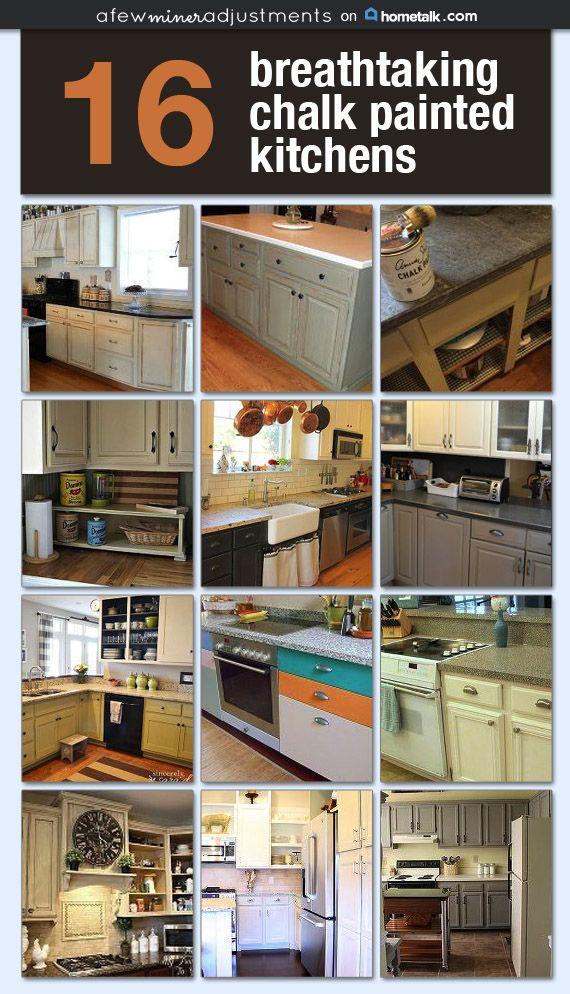 16 Breathtaking Chalk Painted Kitchens