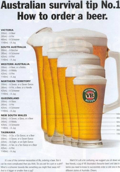 """Australian survival tip No.1 How to order a beer in all 7 states"" #yankinaustralia #australia"