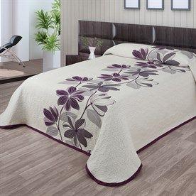 Narzuta na łóżko Azura fioletowy, 240 x 260 cm