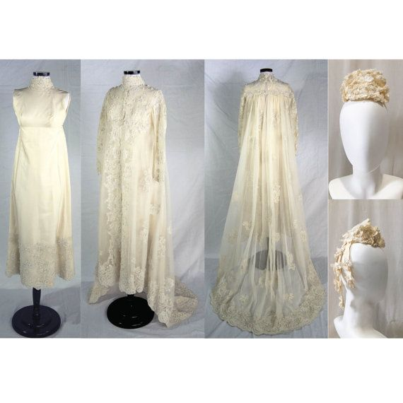 1960s Pricilla Of Boston Wedding Gown // Silk Taffeta W