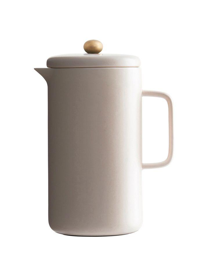 Porcelánová konvice na kávu - pudrová / kitchenette shop