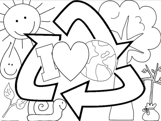 Earth Day coloring sheet FREEBIE. Check out that cool T-Shirt here: https://www.sunfrog.com/Holidays/Make-Everyday-Earth-Day.html?53507