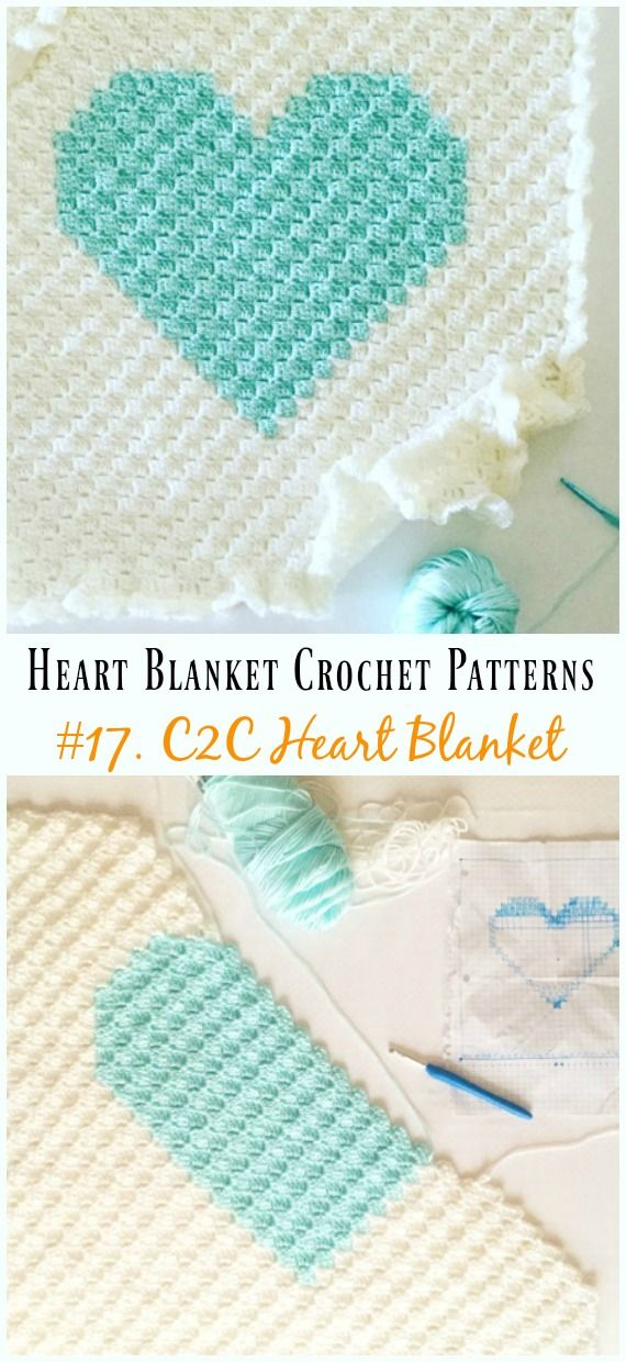Heart Blanket Crochet Patterns | Crochet and Knitting