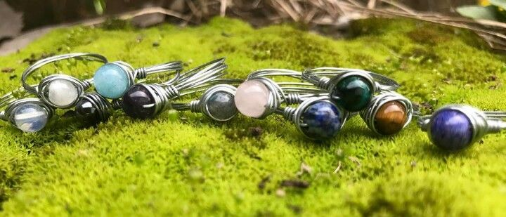 Rings for sale. Pick the crystal and the size. Check out Www.etsy.com/shop/thegypsycabinet for all the jewelry and ordering
