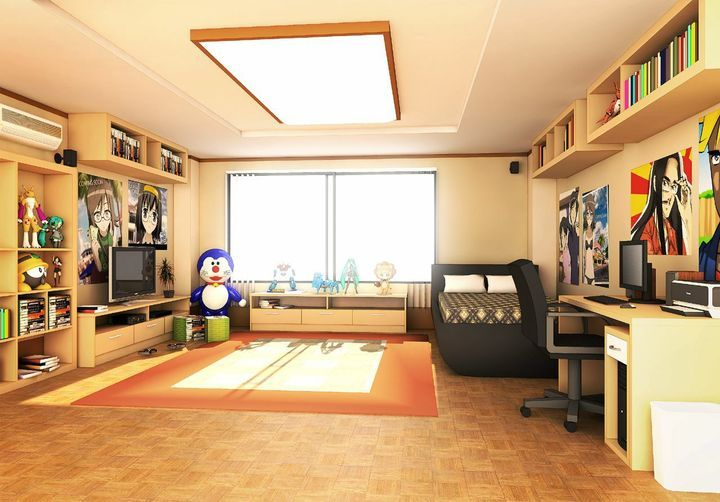 Yandere Ayano Aishi X Fem Reader X Rivals Chapter 1 New School Living Room Background Anime Scenery Anime Room Living room anime apartment background