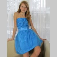 Stella MLia Owie Dress in Bright Aqua