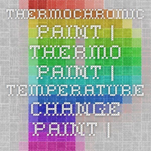 Thermochromic Paint   Thermo Paint   Temperature change paint   color changing paint   Heat Sensitive Paint