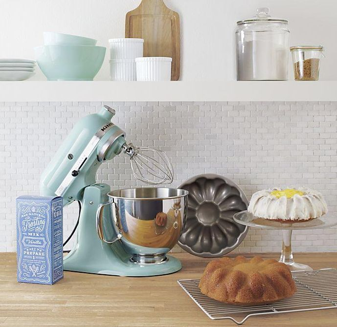 Gorgeous Use Of Tiffany Blue In The Kitchen Love The Stand Mixer And Those Mixing