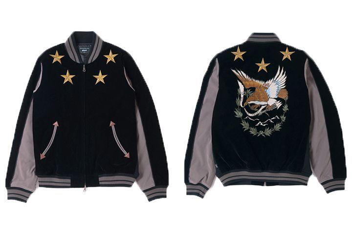 """Mustbuy:刺繍が目を引く最注目の秋アウター、スカジャン&ベトジャン特集。   今年春から徐々に人気を集めている「スカジャン」は、秋のアウターとしても注目度大!派手な刺繍のものからシンプルな無地のものまで、あらゆるデザインが各ブランドから展開されている今が""""買い""""のアイテムです。今回、デザイン別にショップスタッフのコーディネートをまとめました。これを参考に、スカジャンに挑戦してみてはいかがでしょうか。      ■刺繍なし  サテンの光沢感が特徴的なスカジャン..."""
