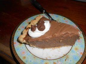 GONE TO HEAVEN CHOCOLATE PIE #creamy #chocolate #justapinchrecipes