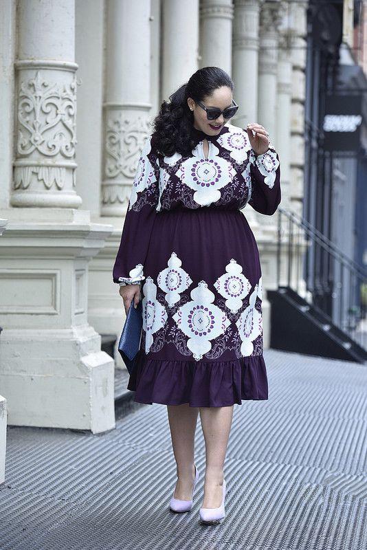 4782b0b8d5cec Girl With Curves x Lane Bryant Collection Sneak Peek  Medallion Print Dress  https