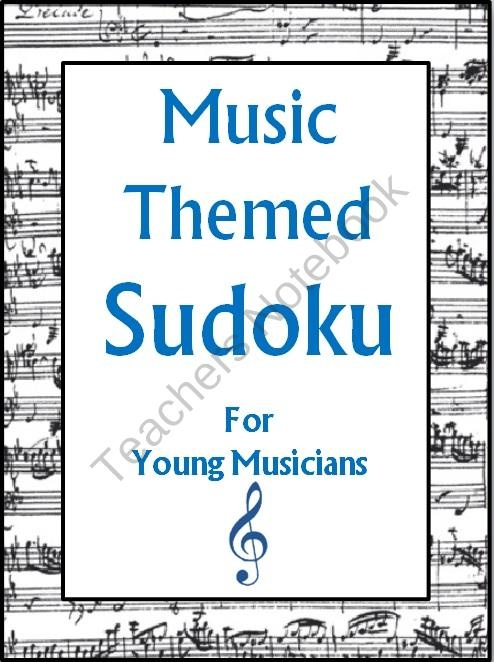 Music Themed SUDOKU Puzzles