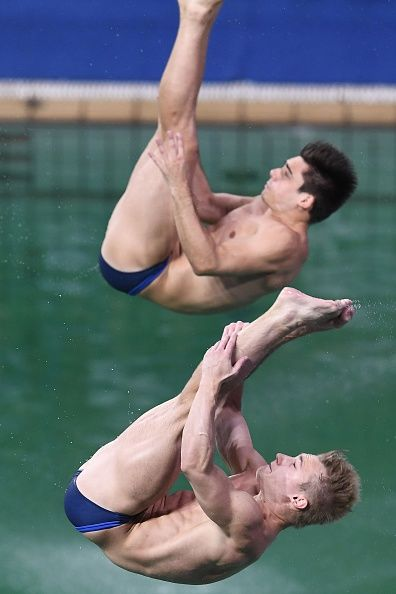 #RIO2016 Great Britain's Jack Laugher and Great Britain's Chris Mears compete in the Men's Synchronised 3m Springboard Final during the diving event at the...