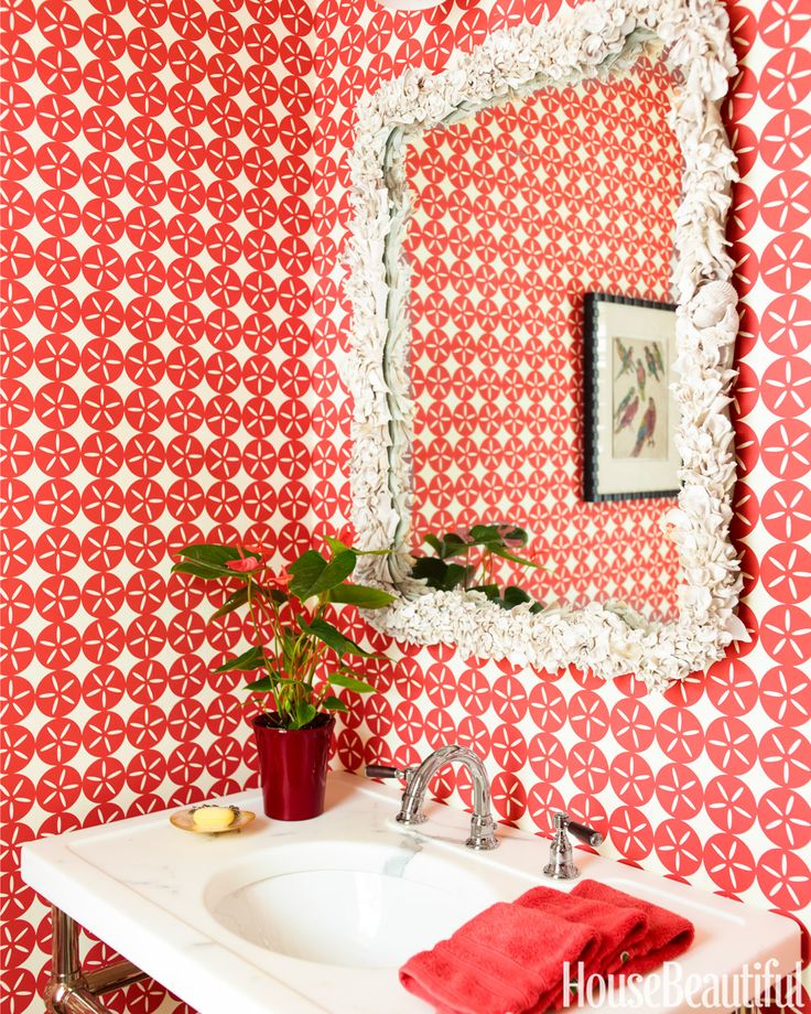 Bright red walls