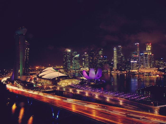 Singapore: Day One – The world was our oyster on this flight. Marina Bay from the Singapore Flyer :)