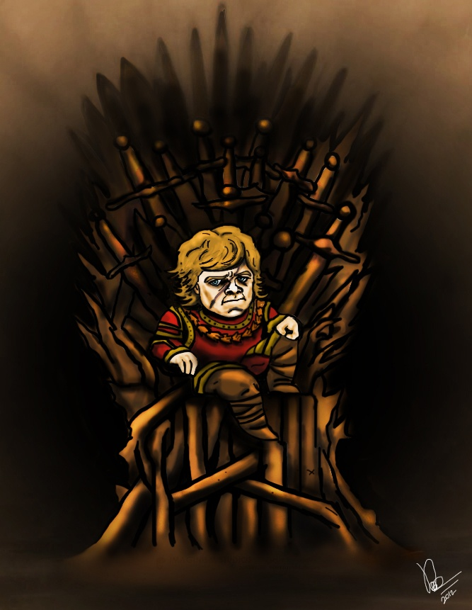 Game Of Thrones...nuff said :P Digital painting i did of The IMP!