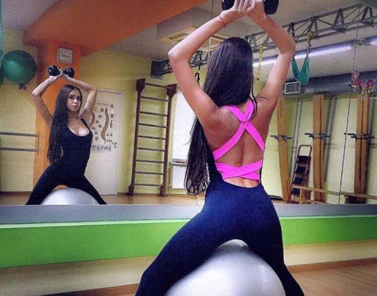 Women's Sports YOGA Workout Gym Fitness Leggings Pants Jumpsuit Athletic Clothes