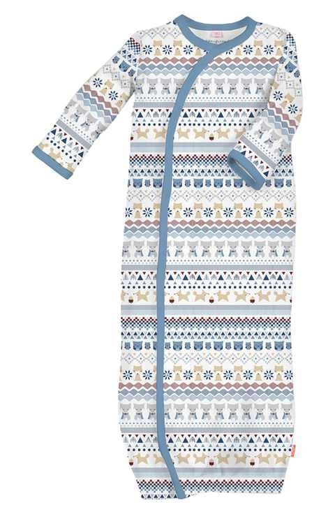 Magnificent Baby 'Fair Isle' Gown (Baby Boys)