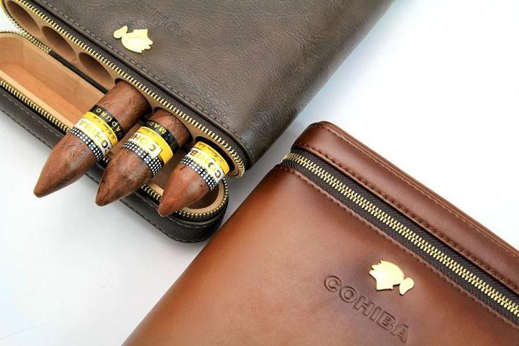 "COHIBA Travel Cigar Case – Nearest Gift Shop - Take Your Favorite Cigars Anywhere!! Holds 6 cigars not bigger than 60 ring gauge. (Diameter: 0.94"", Lenght 6.5"") #cigar #cigarcase #leather #cigarlife #smoker #cigaraficionado #cigarsociety #cigarsnob #cigarworld #cohiba #luxury #cuban #habanos #habano #cigars  #entrepreneur #havana #luxurylifestyle #cigarshop"