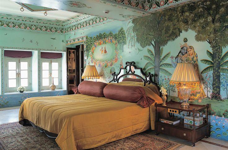 A room at the Taj Lake Palace in Udaipur.