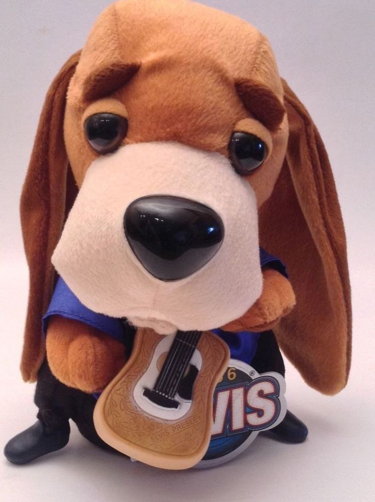 Elvis Gemmy Elvis Presley Blue Suede Shoes 1956 Musical Bassett Hound Dog