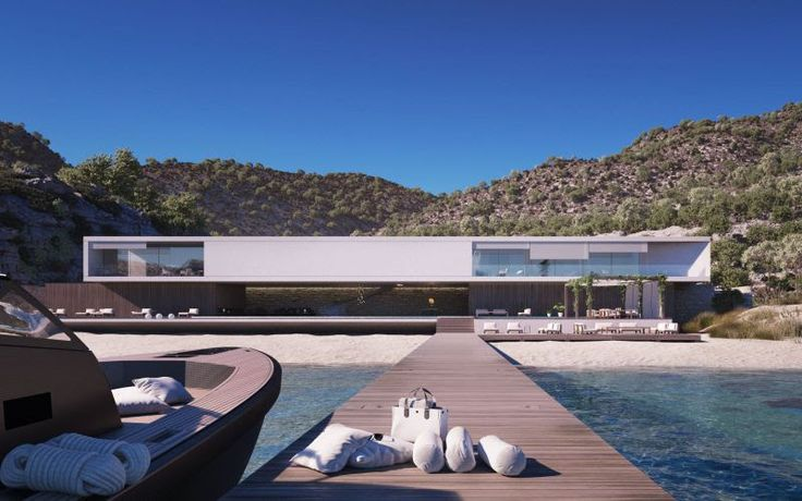 SUPERHOUSE BY STROM ARCHITECTS - This Superhouse is located in a quiet, private bay on an undisclosed Mediterranean island.