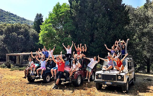 """Jeep Tour with Boston University students in Pula Mountains and snack with shepherds! #Kestagency #events #eventprofs #eventplanner #incentive #meeting #meetingprofs #teambuilding #teambuilders #excursion #sardegna #sardinia #sardinien #сардиния #santamargheritadipula #chia"" by @kestagency (kestagency). • • What do you think about this one? @contemporarycatering @convenemeetings @conversion_management @coolcanvas,@cortevents_hollyd @cortevents_kerri @craigskill…"