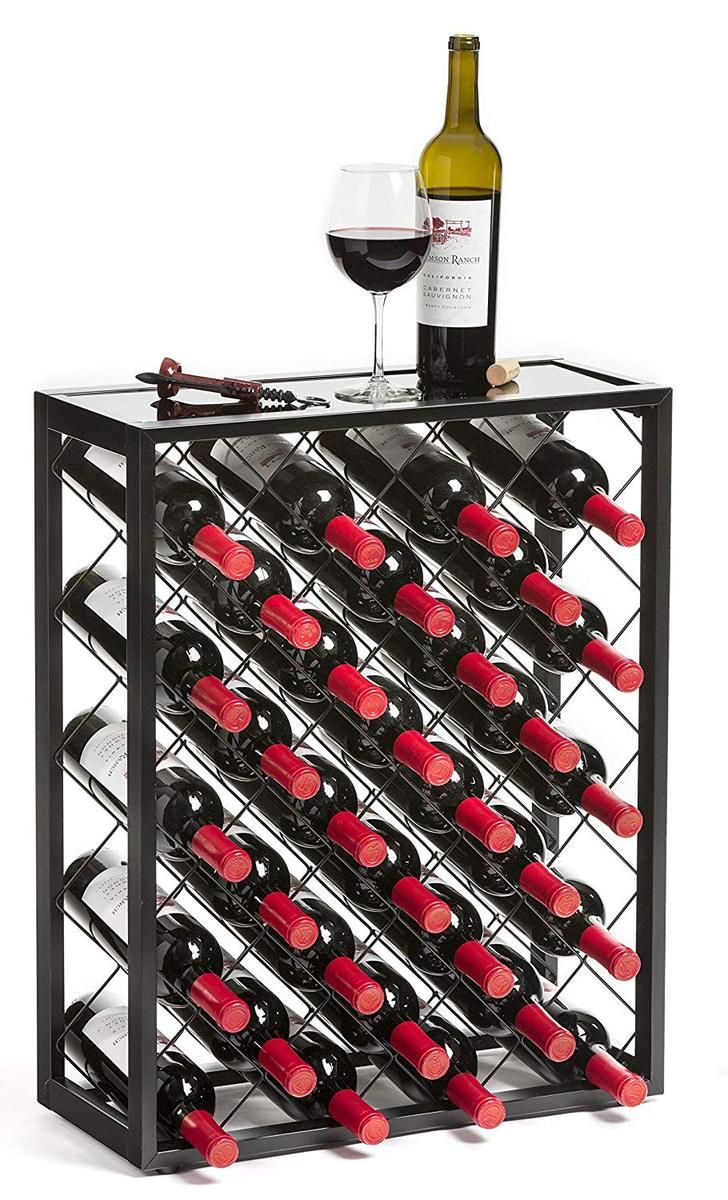 Great Wine Rack For A Great Price This Modern Minimalist Wine Stand Is A Great Add On To Any Kitchen Home Bar Or Man Ca Glass Top Table Wine Rack Glass