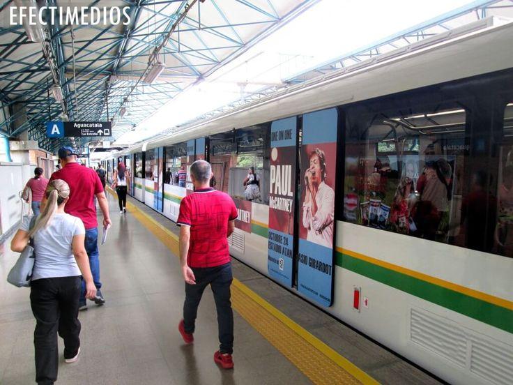 Branding en vagones del Metro de Medellín, Campañas con grandes audiencias en Medios Ooh #ideasefectivas  Contáctanos: servicioalcliente@efectimedios.com