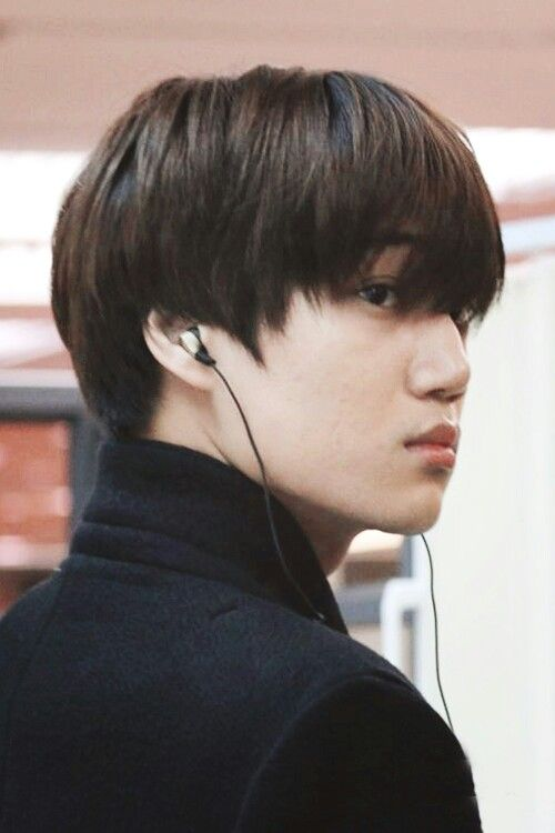 Kai Exo >> unstyled hair + and turtle necks is my fave on exo