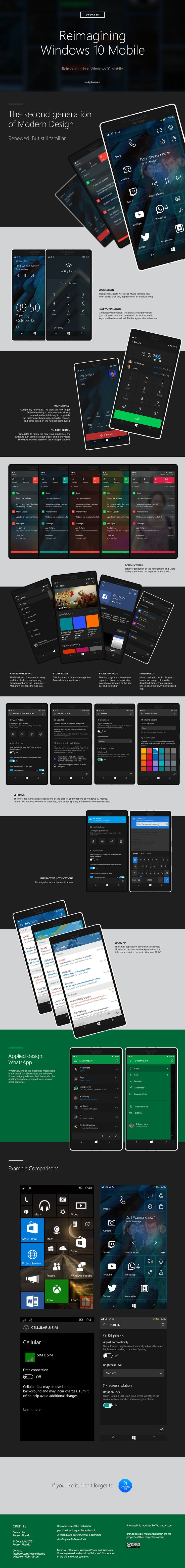 Reimagining Windows 10 Mobile [Update 2] on Behance