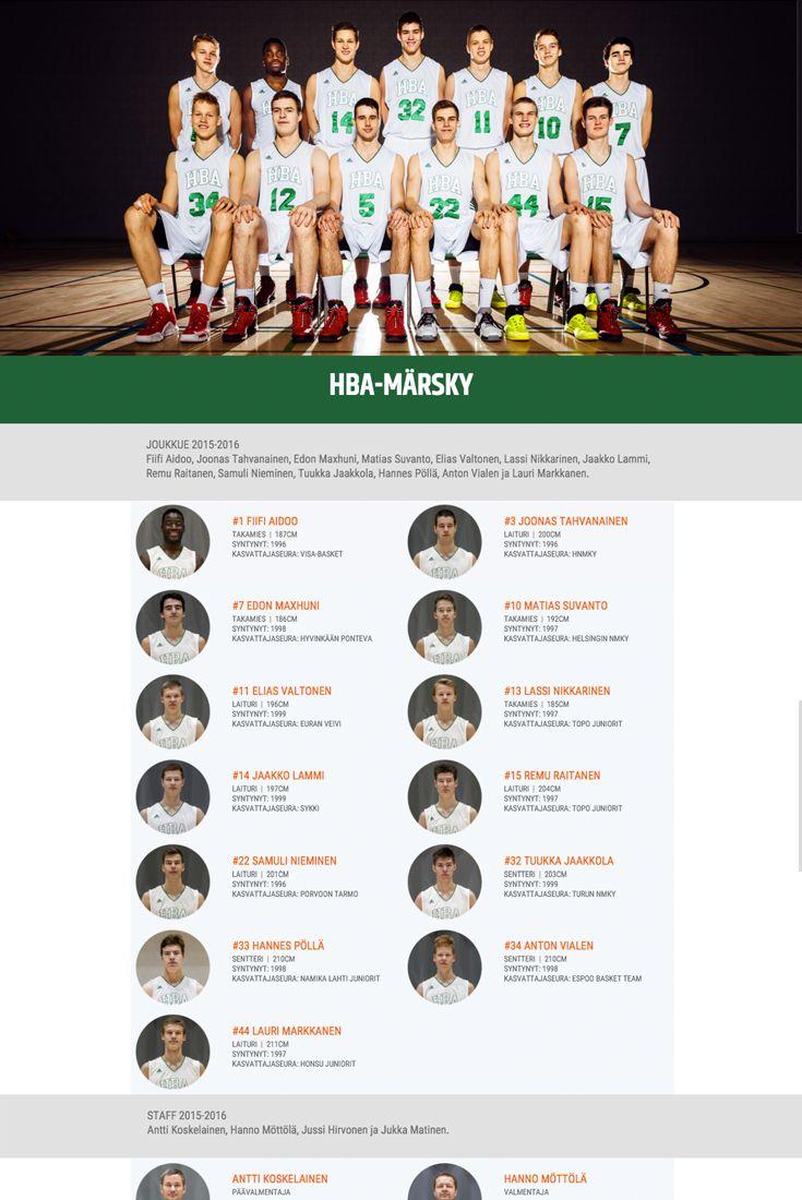 Helsinki Basketball Academy magazine style website http://www.hba.fi/HBA-Marsky/1/