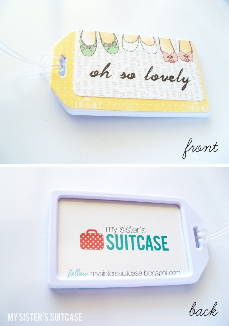 Custom Luggage Tags {and Business Card holder}