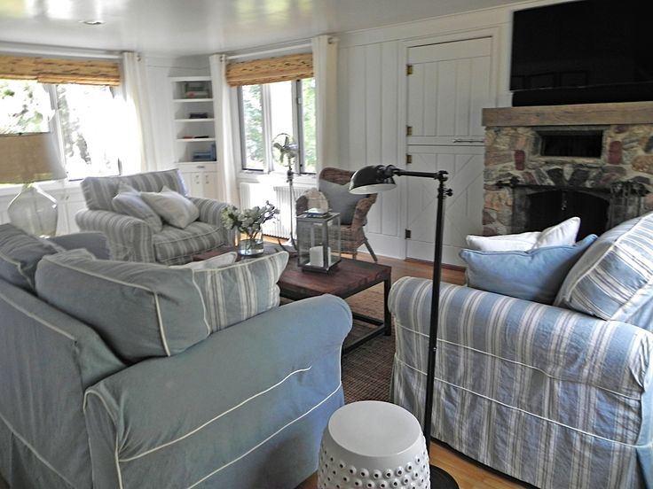 Living Room With Slipcover Furniture