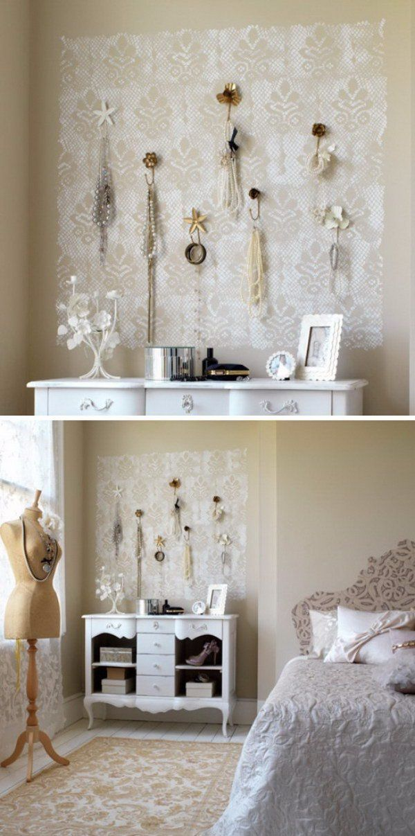 Shabby Chic Lace Wall Art