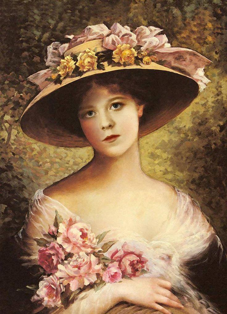 Vintage Paintings Of Women 718 best ANTIQUE, VINT...